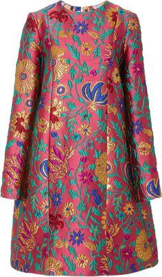 Metallic Brocade Mini Dress by La DoubleJ Boho Outfits, Stylish Outfits, Dress Outfits, Fashion Dresses, Cute Fashion, Womens Fashion, Brocade Dresses, Mode Chic, African Print Fashion