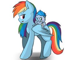 Mommy's here for u kid-(rainbow dash)