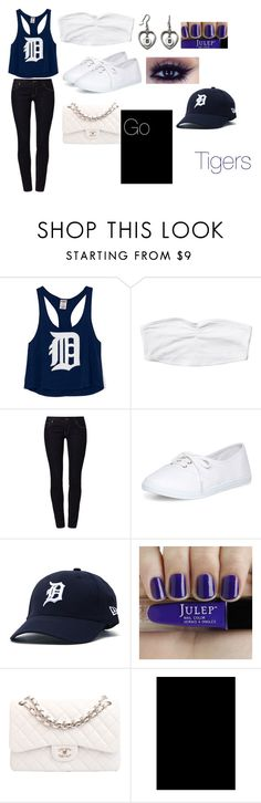 """""""Detroit Tigers"""" by mckenzie-cool ❤ liked on Polyvore featuring Victoria's Secret PINK, Monki, Calvin Klein Jeans, Dorothy Perkins and Chanel"""