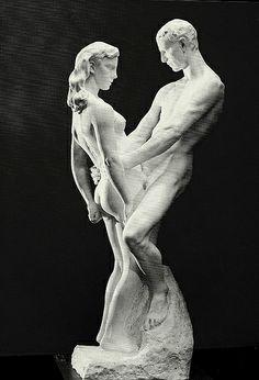 Woman and Man - Gustav Vigeland Sculpture Images, Abstract Sculpture, Sculpture Art, Auguste Rodin, Art Nouveau, Art Antique, Baroque Art, Sex And Love, Wooden Art