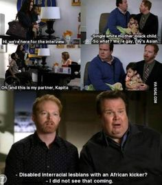 "Modern Family. The side ""interviews"" are my favorite parts - 9GAG"