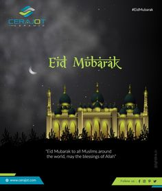 Eid Mubarak, Wall Tiles, Blessings, Allah, Muslim, Tile Floor, Blessed, Around The Worlds, Peace
