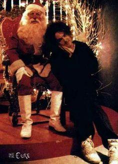 Santa and Robert Smith
