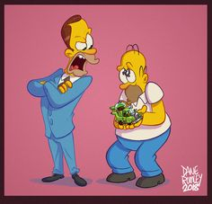 Ok next I did as kind of a bonus, it's Homer's half brother Herb. There's only a few episodes of him but they were classics; 90s Cartoons, Adult Cartoons, Animated Cartoons, Simpsons Drawings, Simpsons Art, Bart And Lisa Simpson, Homer Simpson, Los Simsons, Caricatures