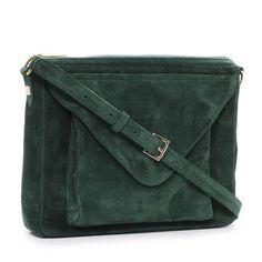 Simone bag, emerald suede