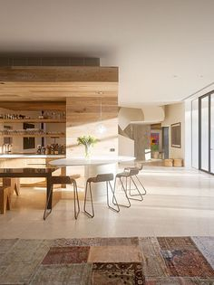 wood wall paneling for modern kitchens and sining rooms