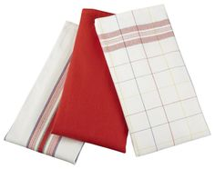 LE CREUSET Kitchen Towel Set 3 PC Cherry $19.95 TOTAL! TOP BRANDS * LOWEST PRICES * FREE WORLD SHIPPING * CULINART WEBSITE: www.shopculinart.com