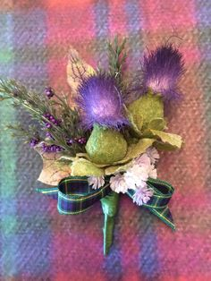Scottish traditional artificial silk buttonhole,gordon tartan,thistle,wedding in Home, Furniture & DIY, Wedding Supplies, Flowers, Petals & Garlands | eBay
