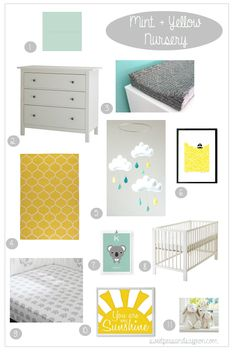 Nursery Inspiration: Mint & Yellow | Sweet Peas & Saffron