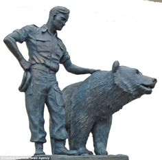 Private Wojtek-- a soldier bear (really) during WWII.