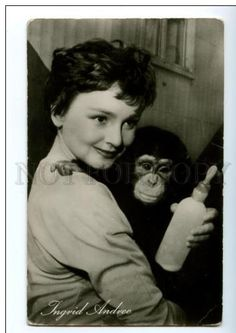 0 ingrid andrée german actress with a monkey