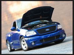 Blue Ford Lightning Svt