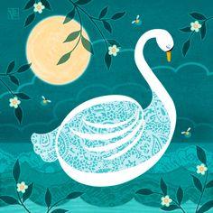 S is for Swan Letter Art, Monogram Letters, Art Boards, Graphic Illustration, Drake, Alphabet, Whimsical, Digital Art, Kids Rugs