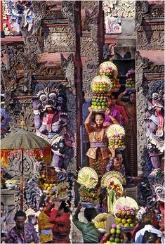 Offerings in Bali temple - Singaraja, Bali