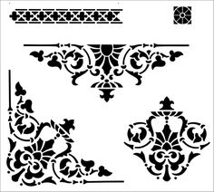 Panel Pack stencil from The Stencil Library INDIA AND CHINA range. Buy stencils online. Stencil code IN48.
