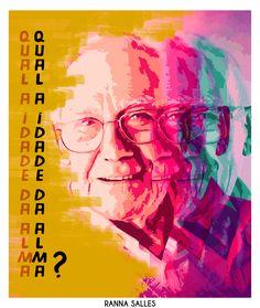 Poster sobre a idade da alma, cores, fomas e expressão. Por: Ranna Salles