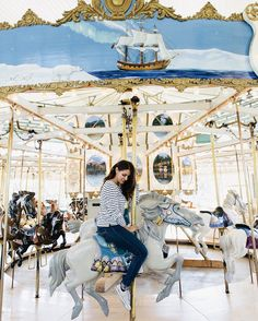 Can I stay in this carousel until Prince Charmimg comes to me?  Also my petites any fun Halloween plans? I'm still deciding if I will do something. For my costume I'm between Black Swan Harry Potter or Mathilda from the Professional.  Any suggestions?  #happysaturday