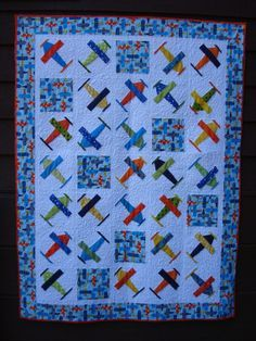 Free Airplane Quilt Block | airplane baby quilts