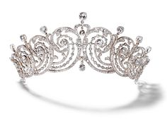 Cartier Essex Tiara, United Kingdom (c.1902;  diamonds). Made for Adele Capell, Countess of Essex.
