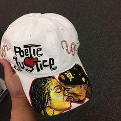 Poetic Justice, Tupac Shakur, Janet Jackson, Dad Hats, Black History, Scene, Hand Painted, Movie, Film