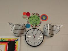 I like this!  My clock says...It's time to read, but I think I'll change it to...Time flies when you're reading! :)