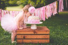 COSIDO de primer cumpleaños traje niña Tutu torta Smash traje