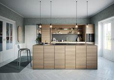 Svane Køkkenet køkken med indbygget ovn og hylder