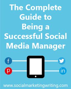 The Full Guide to Being a Successful Social Media Manager The Complete Guide to Being a Successful Social Media Manager Social Media Marketing Business, Social Media Tips, Content Marketing, Digital Marketing, Marketing Ideas, Marketing Tools, Online Marketing, Google Plus, Social Entrepreneurship