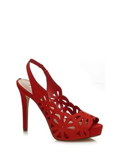 This perforated leather model is ideal for adding a touch of glamour to evening looks