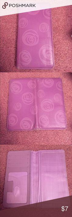 Purple Roses Checkbook Beautiful purple checkbook with roses Bags