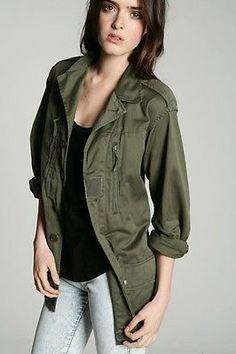 Loose military jacket