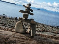 Inuksuk, a stone monument in the likeness of a human