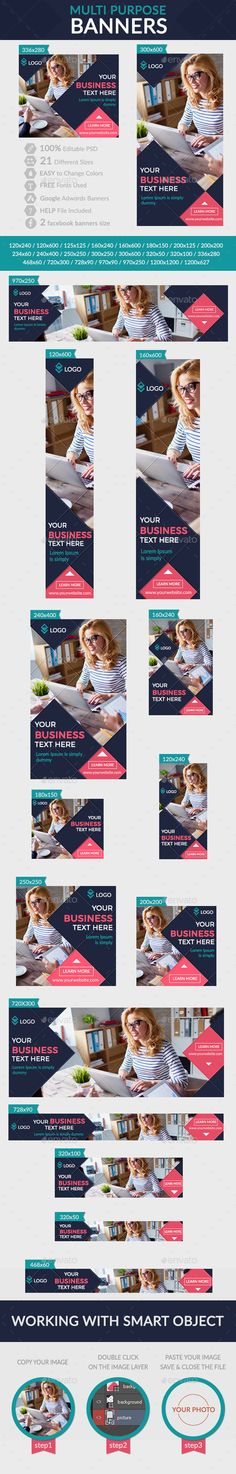 Multi Purpose Banners + Facebook banners Template #design #ads Download: http://graphicriver.net/item/multi-purpose-banners-facebook-banners/12717984?ref=ksioks