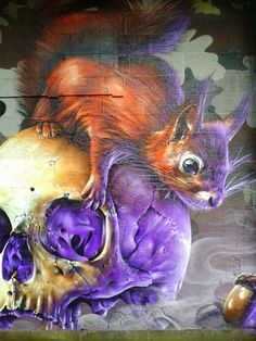 Squirrel, Smug, Glasgow This is Art, not Mine nor yours, but It deserves to be seen...by everyone...Share it...