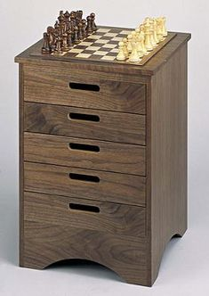 Board Games Chest of Drawers on which to Play Chess and Backgammon - Home Interior Design Themes Board Game Storage, Board Game Table, Table Games, Chess Table, Interior Design Themes, Home Organisation, Organization, Classic Board Games, Cottage Living Rooms