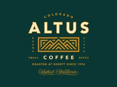 Altus Coffee Rebrand designed by Jared Jacob. Connect with them on Dribbble; the global community for designers and creative professionals. Coffee Shop Logo, Coffee Branding, Logo Branding, Branding Design, Brand Identity, Design Packaging, Corporate Identity, Packaging Design Inspiration, Logo Inspiration