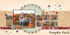 Scrapbook Layout – Pumpkin Patch