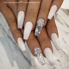 Here are the best Christmas acrylic nail designs, cute Christmas nails 2 ., Here are the best Christmas acrylic nail designs, cute 2018 Christmas nails, and 2018 red Christmas nails that we have chosen to inspire you! Chistmas Nails, Cute Christmas Nails, Xmas Nails, Christmas Nail Art Designs, Holiday Nails, Christmas Acrylic Nails, White Christmas, Christmas Holiday, Christmas Design
