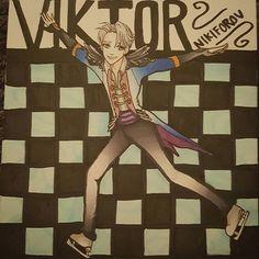 Awesome Viktor fanart created by @macabrepoet with their Chameleon Pens.  #viktornikiforov #yurionice #fanart #anime #drawing #ink #art #sketch #sketchbook #chameleonpens #alcoholmarkers