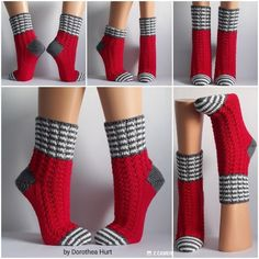 Socken - Annette Thielmann - knitting for beginners knitting ideas knitting patterns knitting projects knitting sweater Crochet Slippers, Crochet Yarn, Knitting Patterns Free, Free Knitting, Knitting Socks, Knitted Hats, Pineapple Socks, Sock Toys, Knit Stockings