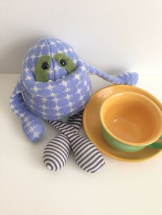 Smug+Monster+mini+plush+sculpture+upcycled+by+BirdIsTheWordDesign,+$29.00 Softies, Plushies, Pillow Patterns, Little Monsters, Disney Frozen, Projects For Kids, Consideration, Jumper, Upcycle