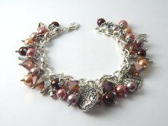 Silver Brown Woodland Charm Bracelet  Bronze by BitsAndBojangles