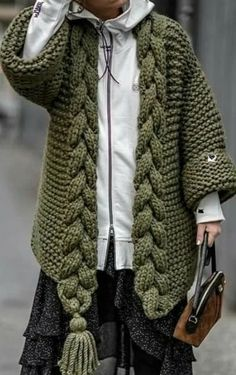 Fall Fashion Outfits, Casual Winter Outfits, Knit Fashion, Mode Outfits, Cardigan Pattern, Crochet Cardigan, Knit Crochet, Crochet Hats, Baby Knitting Patterns
