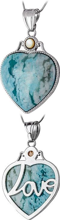 Heart of Love Turquoise Necklace at The Veterans Site
