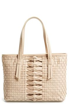 Cole+Haan+'Hayden'+Woven+Leather+Tote+available+at+#Nordstrom