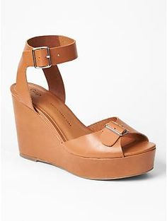 Leather buckle wedges | Gap