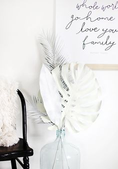 DIY: Neutral Painted Palms @themerrythought