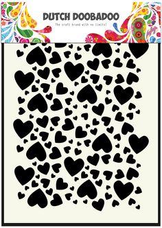470.715.038 Dutch Doobadoo Dutch Mask Art Hearts