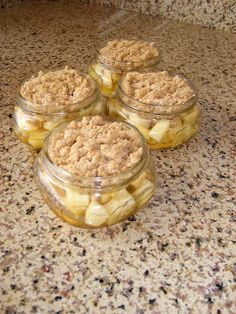Single serving, mini apple cobbler. Easy recipe and absolutely delicious!