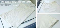 Whitening Whites...Can This Cami Be Saved? - One Good Thing by JilleePinterestFacebookPinterestFacebookPrintFriendly